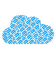 cloud composition of free tag icons vector image vector image