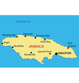 Commonwealth of Jamaica - map vector image vector image