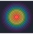 Concentric circle elements vector image vector image