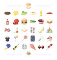 cooking vegetables food and other web icon in vector image vector image