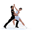 Couple ice dancing vector image