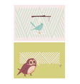 Creative cards with birds vector image