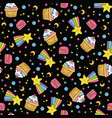 cute seamless space pattern vector image vector image