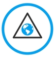 Earth Warning Icon vector image vector image