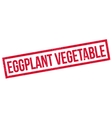 Eggplant Vegetable rubber stamp vector image vector image