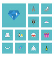 flat icons building jewelry brilliant and other vector image vector image