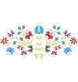 Folk floral pattern vector image vector image