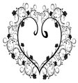 frame flourishes heart vector image