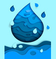 fresh water banner design template abstract vector image