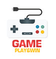 game play win retro gamepad icon image vector image