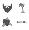 hairdresser travel and other monochrome icon in vector image vector image