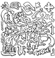 Hand-drawn arrow doodles vector image