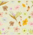 hawaiian floral pattern vector image