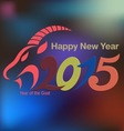 Holidays Chinese New Year 2015 of the Goat vector image vector image