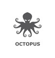 icon of octopus isolated on white background vector image vector image