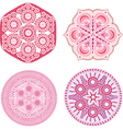 Indian ornaments kaleidoscopic floral pattern vector image vector image