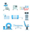 innovational medical diagnostic equipment set of vector image vector image