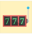 jackpot icon in flat style vector image vector image