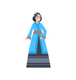 korea traditional clothes woman wearing ancient vector image