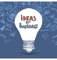 Lightbulb and drawing business strategy vector image