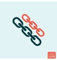 Link icon isolated vector image vector image