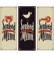 menu for seafood restaurant vector image