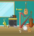 music studio musical instruments producer record vector image vector image