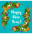 New Year poster Garland frame vector image vector image