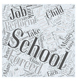 No Child Left Behind Word Cloud Concept vector image vector image