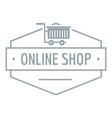 online shop logo simple gray style vector image vector image