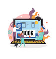 online travel booking concept for web vector image vector image