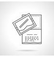Party invitation icon flat line design icon vector image vector image