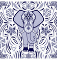 pattern with elephant vector image vector image