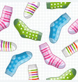 pattern with socks vector image