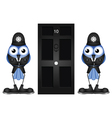 POLICE GUARDING DOOR vector image vector image
