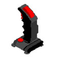 retro joystick pixel art old gamepad pixel vector image