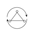 rotation triangle icon vector image