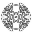 round celtic scandinavian design celtic pattern vector image
