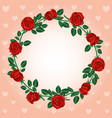 round frame of red roses vector image