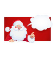 santa claus with speech vector image