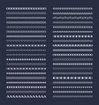 seamless borders line graphical elements vector image