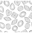 Seamless pattern with contour diamonds Blackand vector image vector image