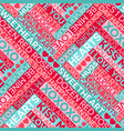 seamless valentines day typography pattern vector image vector image