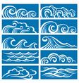 set waves vector image