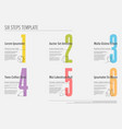 six steps progress template with nice typography vector image vector image