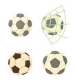 soccer ball icon set cartoon style vector image vector image