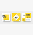 square web banner templates for big and mega sale vector image vector image