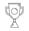 Winner Cup Line Art Icon vector image