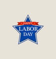worker labor day logo flat style vector image vector image