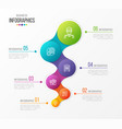abstract infographic design 6 steps vector image